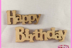 Leane Creative 71-1826 Wood Shapers Happy Birthday