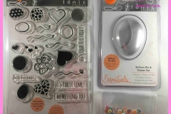 Tonic It's Party Time Stamp Set, Tonic Balloon Die & Shaker Set en sequins